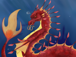 Dragon Of The Sea by my-darkness