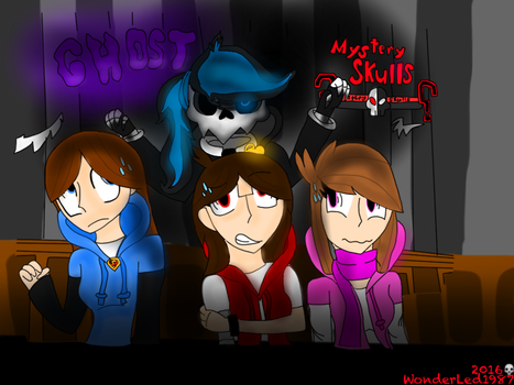 Mystery Skulls with friends by WonderLed1987