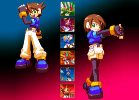 Megaman ZX, Aile y Vent Models by Gizzma