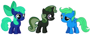 Reverse Cutie Mark Crusaders adoptables! [CLOSED] by Derpyna