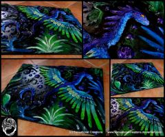 Asizaa - Clay on Wood 3D Amphithere Painting by SonsationalCreations