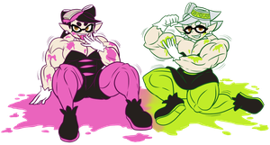 Stained Squid Sisters by DepravedDefense
