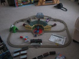Trackmaster Thomas at Tidmouth Sheds Set by TaionaFan369