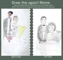 Before and After  the wedding Picture by ojamajomary