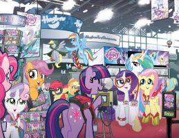 MLP FIM11/Micro8 NYCC Comicsworld Covers by TonyFleecs