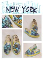 NEW YORK SHOES by artsyfartsyness