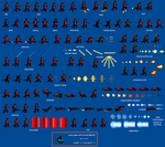 Mecha-Asylus Sprite Sheet by zillagamer