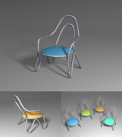 Metal Chair model multiformat by drdearth