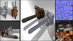 Lowpoly Chainsaw by DennisH2010