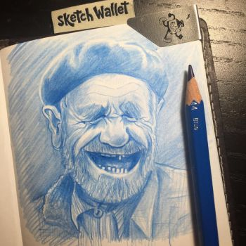 Oldman laughing by Ambair