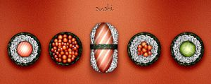 Sushi icons by Cyberella74