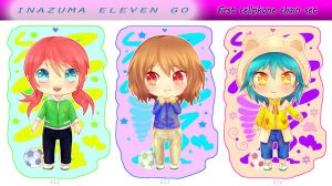 Inazuma cell keychain set #1 by hyuugalanna