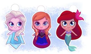 Tiny Princesses (plus one Queen) by demonic-black-cat