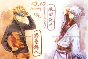 10.10 Orange x Silver HAPPY BIRTHDAY by Gin-Uzumaki