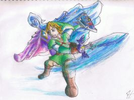 Link and the Skyward Sword by Vdeogamer