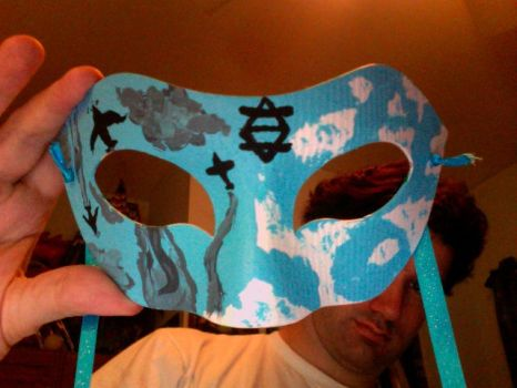 Skydiving Mask (front view) by Un1c0rny