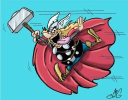 Thor: The Hanna-Barbera Version by Smigliano
