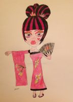 Japanese Geisha Draculaura by DarkRoseDiamond123