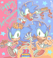 23 years of BLUE BLUR! by chibiirose