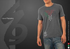 I love Palestine t-shirt by waelswid