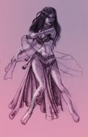Belly Dancer Sketch by kungfubellydancer