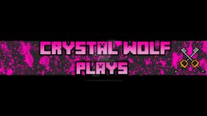 Channel Banner For Crystal_Wolf :) by TaintedVampire