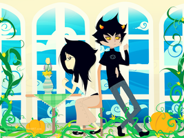 Jade and Karkat by JessMikaerisu