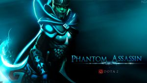 Phantom Assassin FanWallpaper [Dota 2] by nano2412