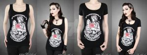 Beauty and the Beast T-shirt by Euflonica