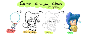 Tutorial - how to draw chibis by griff-chii