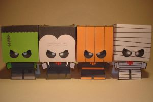 Cardboy Halloween Papercraft by Skele-kitty