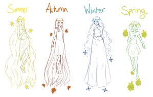 Seasons!~ by Saraca-xx