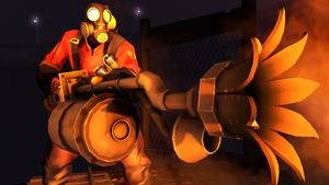 Can you test this weapon for me, Pyro? by Py-Bun