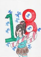 Christmas Countdown:  Vanellope Von Schweet by kakashisgirlfighter