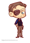 COmmission: The Walking Chibi Dead #Governor by HeiligerShadowfax