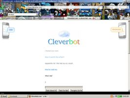 Cleverbot. Round 1 by Dragonuv3