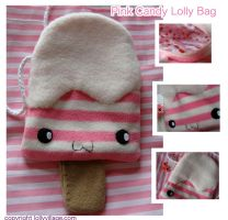 Pink Candy Lolly Bag by fuzzy-jellybeans