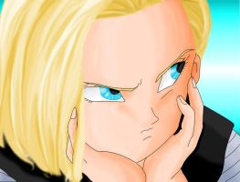 Android 18, colour practise by RinskeR
