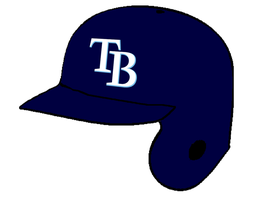 Tampa Bay Rays batting helmet by Chenglor55