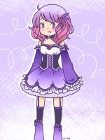 My OC: Pink, Purple, and flowers by anime-lover05