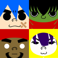 squareGorillaz by obsessed9fangrl