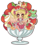Strawberries and Cream by Minty-Kitty-Art