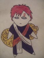 Gaara Chibi In Colour by HaanaArt