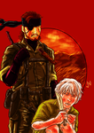 Frank Jaeger and Naked Snake by Prydonian-Poet