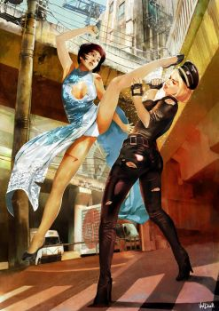2011 - CAT FIGHT by Vandrell
