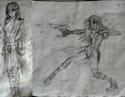Jen First Ever Drawings by PhiTuS