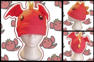 Red Dragon Hat by Ika-Boushi