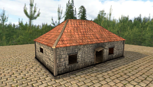 Lowpoly Game Asset - Auction House by xelawebdev