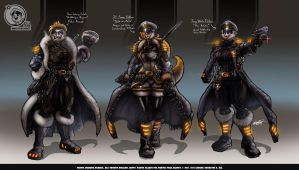 Nsa Concept Art Jill Jenny And Monic Final Suite by VLADSPARTA