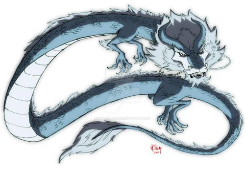 Blue Dragon spirit by Michael-Chang